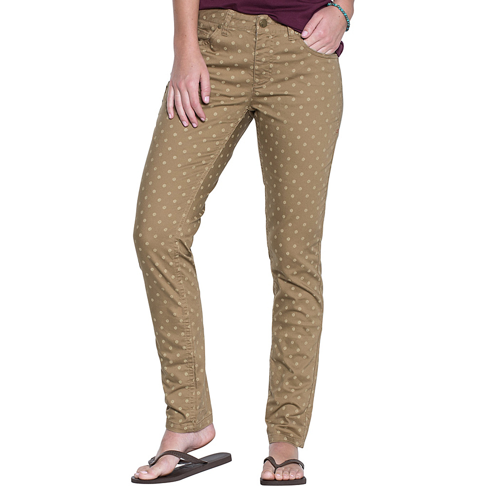 Toad & Co Lola Jean Slim 6 - 32in - Honey Brown Polka Dot Print - Toad & Co Womens Apparel - Apparel & Footwear, Women's Apparel