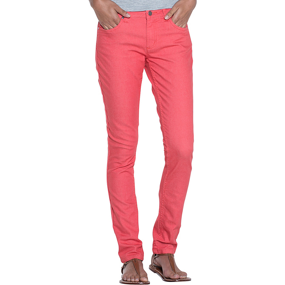 Toad & Co Lola Jean Slim 8 - 32in - Spiced Coral - Toad & Co Womens Apparel - Apparel & Footwear, Women's Apparel