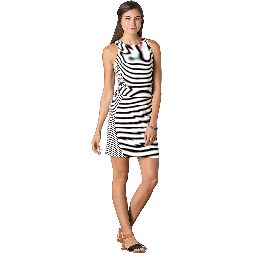 Toad & Co Transita Dress S - Black Chic Stripe - Toad & Co Womens Apparel - Apparel & Footwear, Women's Apparel
