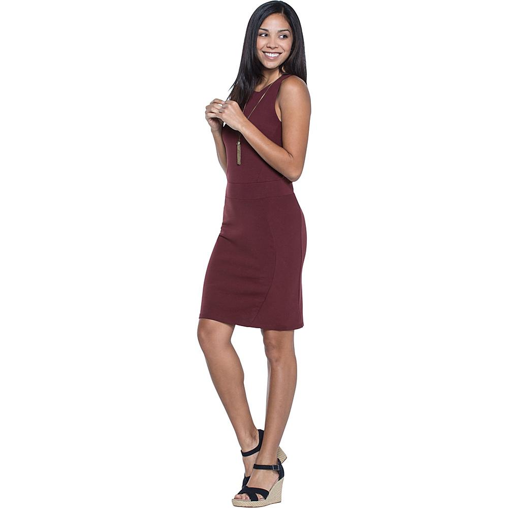 Toad & Co Transita Dress S - Sangria - Toad & Co Womens Apparel - Apparel & Footwear, Women's Apparel