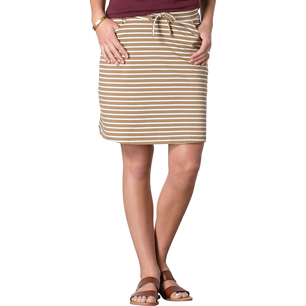 Toad & Co Tica Skirt S - Honey Brown Stripe - Toad & Co Womens Apparel - Apparel & Footwear, Women's Apparel
