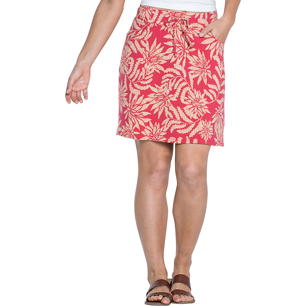 Toad & Co Tica Skirt XS - Parakeet Red Succulent Print - Toad & Co Womens Apparel - Apparel & Footwear, Women's Apparel