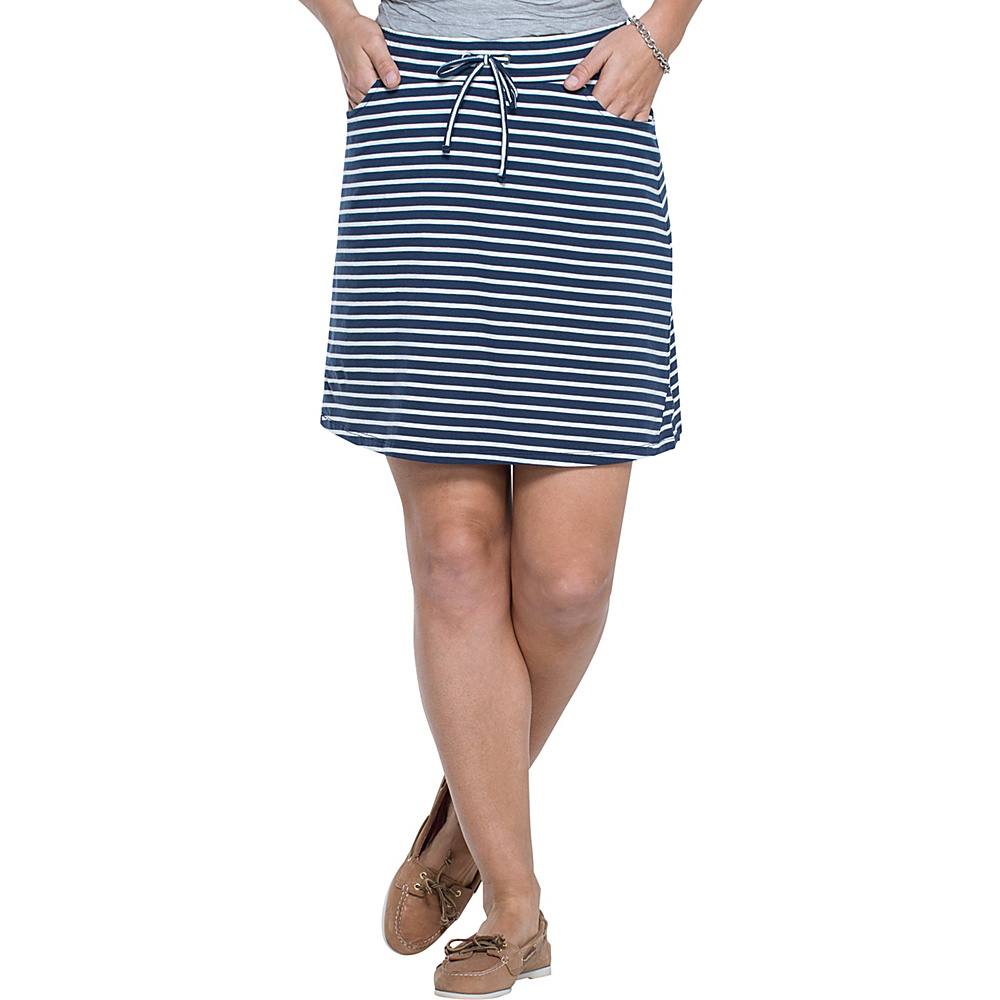 Toad & Co Tica Skirt M - Deep Navy Balanced Stripe - Toad & Co Womens Apparel - Apparel & Footwear, Women's Apparel