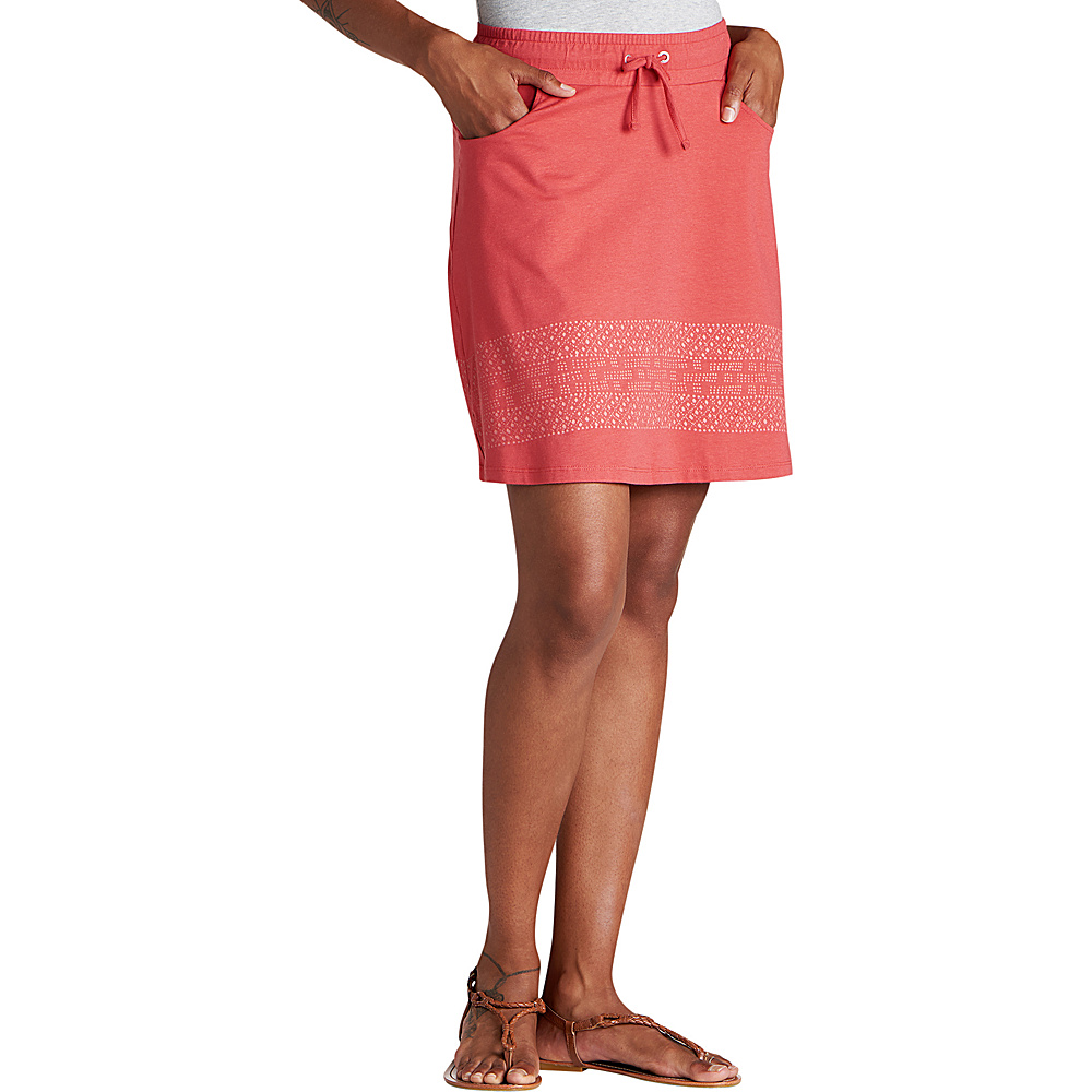 Toad & Co Tica Skirt M - Rhubarb Border Print - Toad & Co Womens Apparel - Apparel & Footwear, Women's Apparel