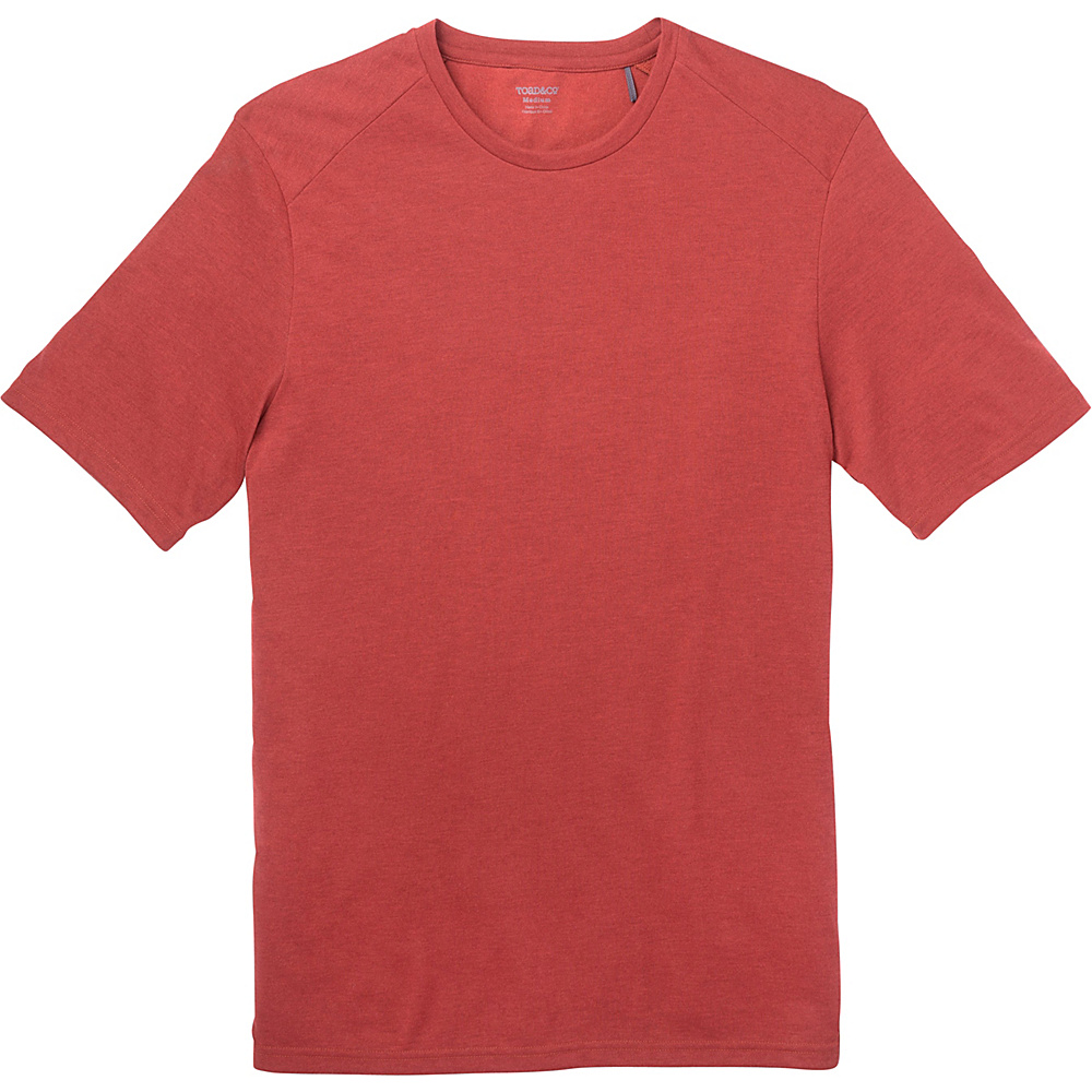 Toad & Co Trailbreak Short Sleeve Crew S - Red Clay - Toad & Co Mens Apparel - Apparel & Footwear, Men's Apparel