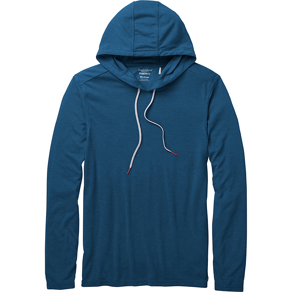 Toad & Co Debug Solaer Hoodie L - Blue Abyss - Toad & Co Mens Apparel - Apparel & Footwear, Men's Apparel