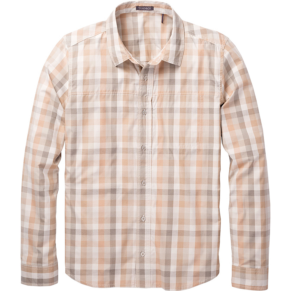 Toad & Co Ventilair Long Sleeve Shirt S - Pelican - Toad & Co Mens Apparel - Apparel & Footwear, Men's Apparel