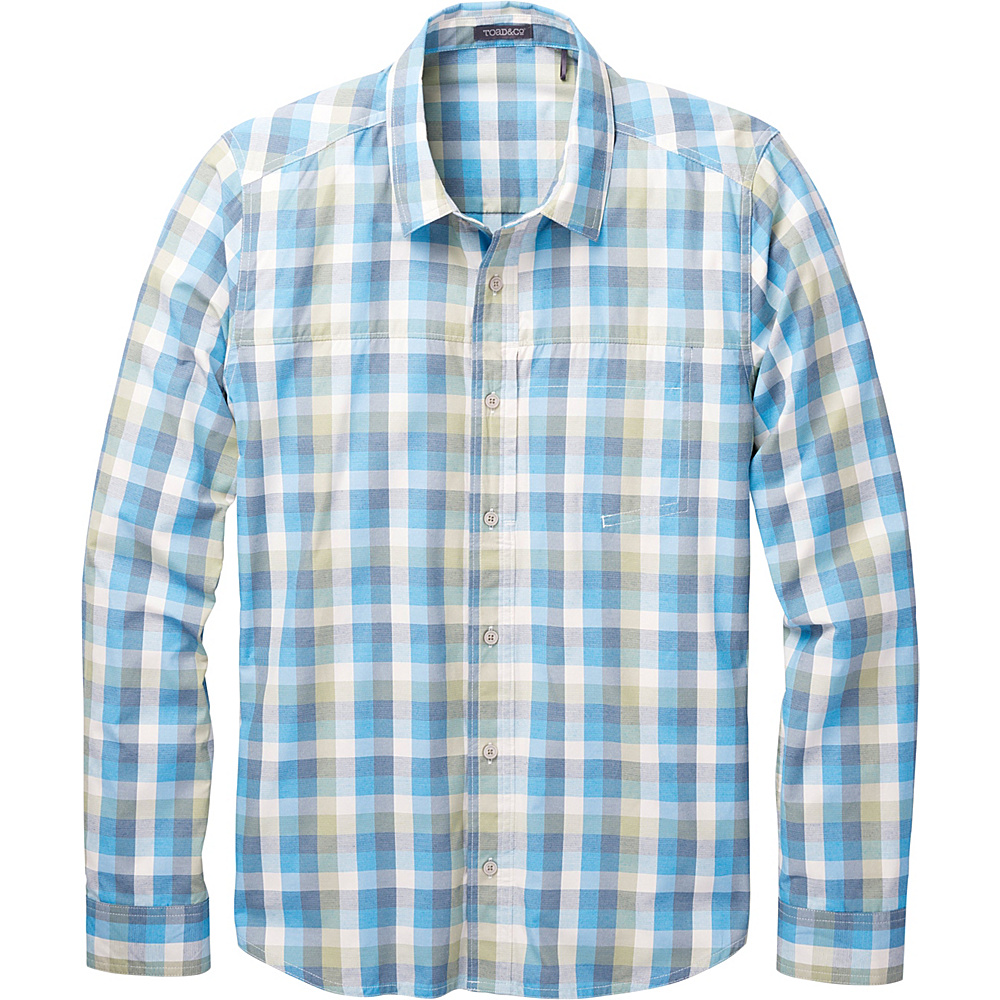 Toad & Co Ventilair Long Sleeve Shirt S - Blue Abyss - Toad & Co Mens Apparel - Apparel & Footwear, Men's Apparel