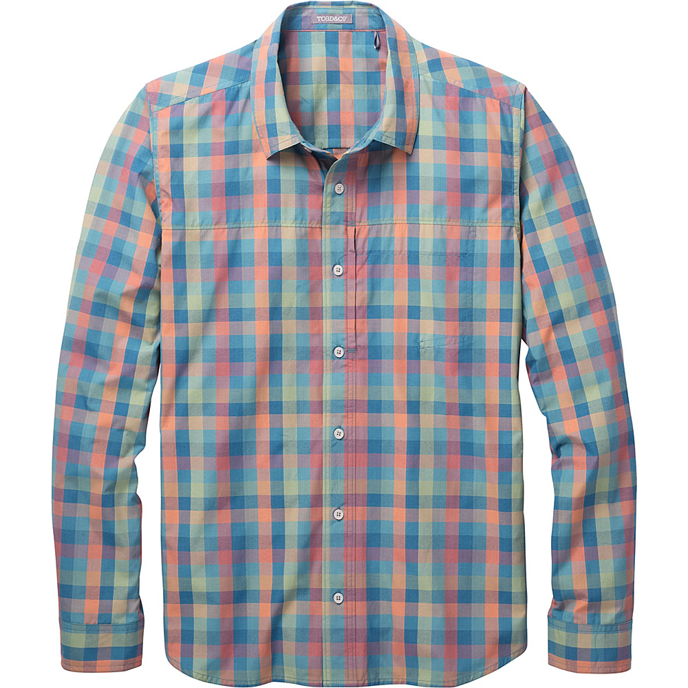 Toad & Co Ventilair Long Sleeve Shirt L - Hydro - Toad & Co Mens Apparel - Apparel & Footwear, Men's Apparel