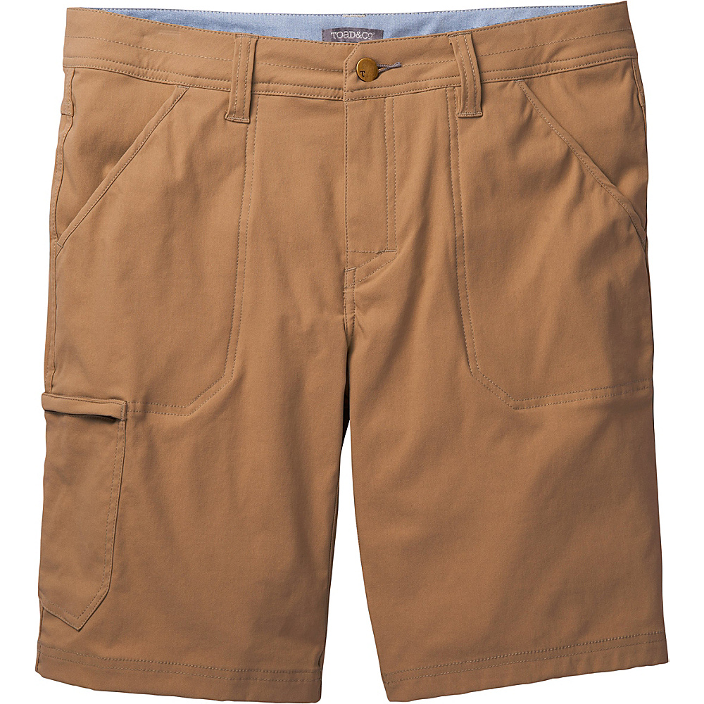 Toad & Co Barrow Short 33 - Seal Brown - Toad & Co Mens Apparel - Apparel & Footwear, Men's Apparel