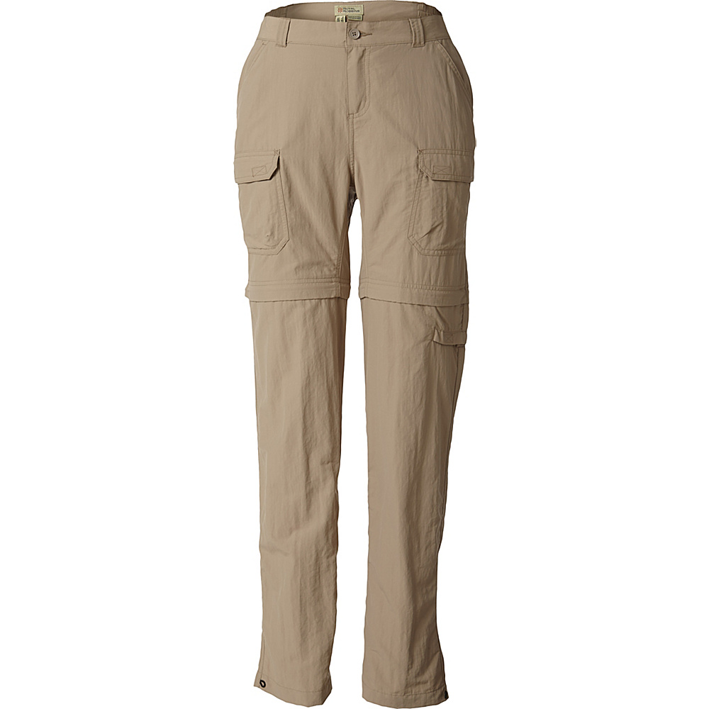 Royal Robbins Womens Classic Zip N Go Pant 8 - 29in - Khaki - Royal Robbins Womens Apparel - Apparel & Footwear, Women's Apparel