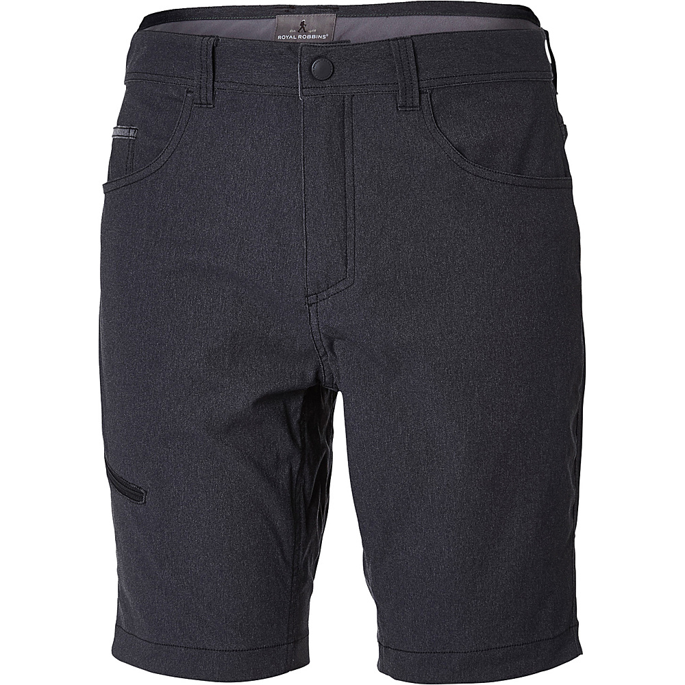 Royal Robbins Mens Alpine Road Short 34 - 10in - Charcoal - Royal Robbins Mens Apparel - Apparel & Footwear, Men's Apparel