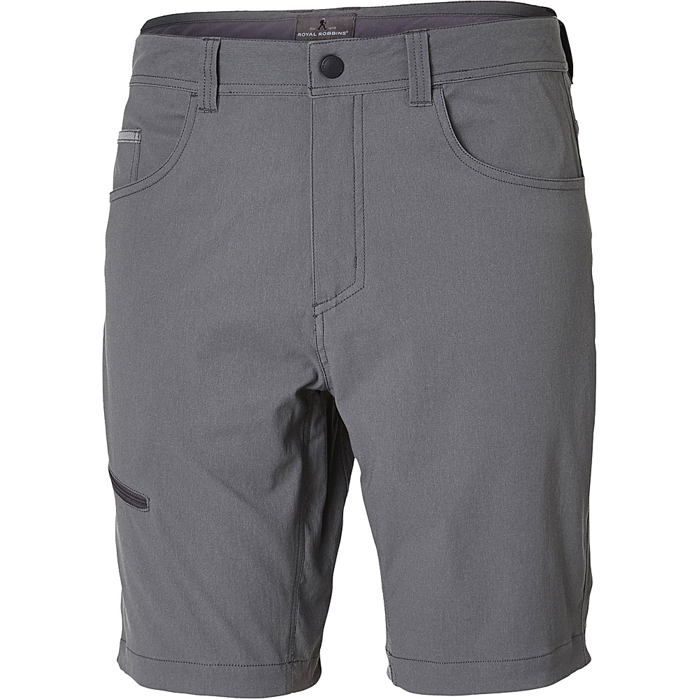 Royal Robbins Mens Alpine Road Short 42 - 10in - Pewter - Royal Robbins Mens Apparel - Apparel & Footwear, Men's Apparel
