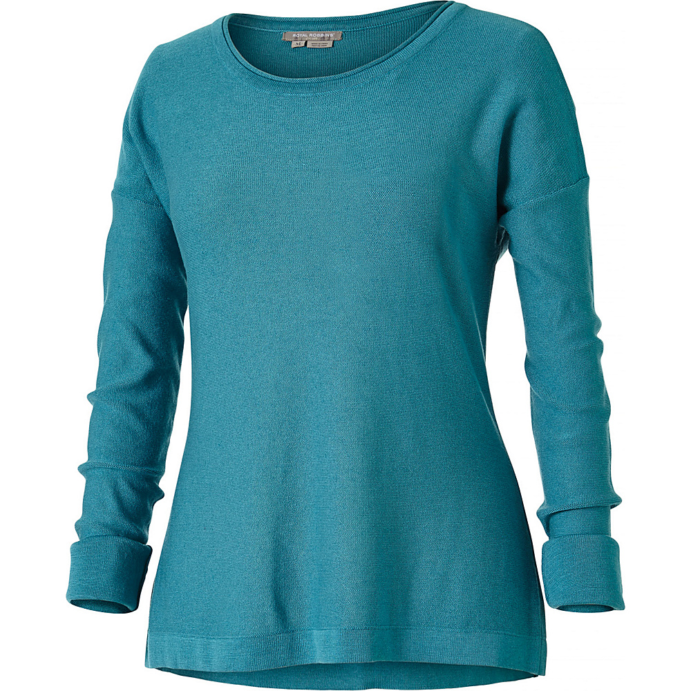 Royal Robbins Womens Calaveras Crew L - Reservoir - Royal Robbins Womens Apparel - Apparel & Footwear, Women's Apparel