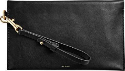 Skagen Leather Zip Pouch Black - Skagen Women's Wallets