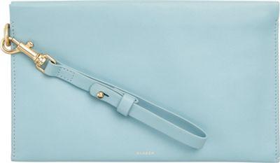 Skagen Leather Zip Pouch Sky Blue - Skagen Women's Wallets