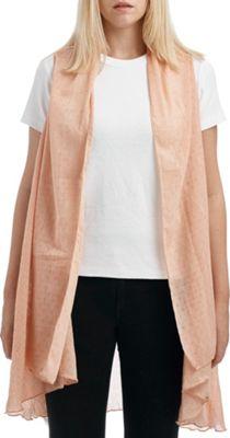 Lava Accessories Chambray Vest One Size  - Peach - Lava Accessories Women's Apparel