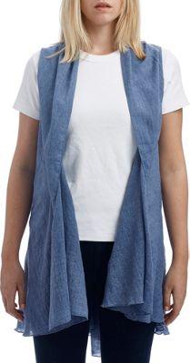 Lava Accessories Chambray Vest One Size  - Denim - Lava Accessories Women's Apparel