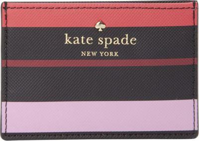 kate spade new york Harding Street Fiesta Stripe Card Holder Black Multi - kate spade new york Women's SLG Other