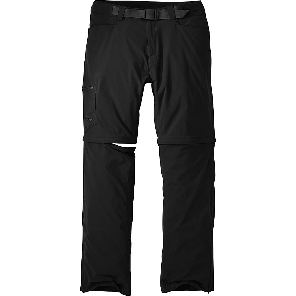 Outdoor Research Mens Equinox Convertible Pants 30 - Black - Outdoor Research Mens Apparel - Apparel & Footwear, Men's Apparel