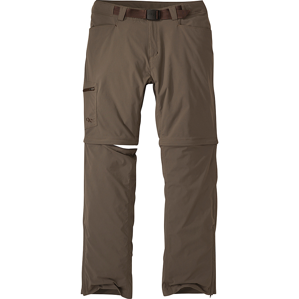 Outdoor Research Mens Equinox Convertible Pants 38 - Mushroom - Outdoor Research Mens Apparel - Apparel & Footwear, Men's Apparel