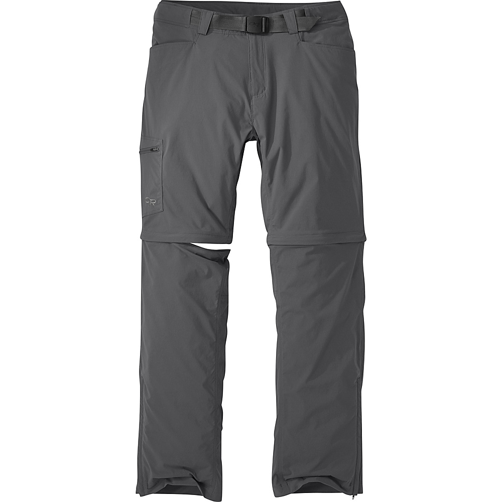 Outdoor Research Mens Equinox Convertible Pants 38 - Charcoal - Outdoor Research Mens Apparel - Apparel & Footwear, Men's Apparel