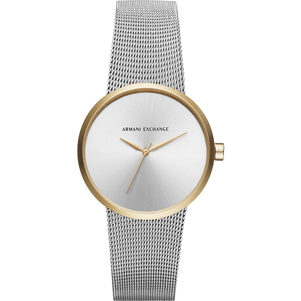 A/X Armani Exchange Dress Watch Silver/Gold - A/X Armani Exchange Watches