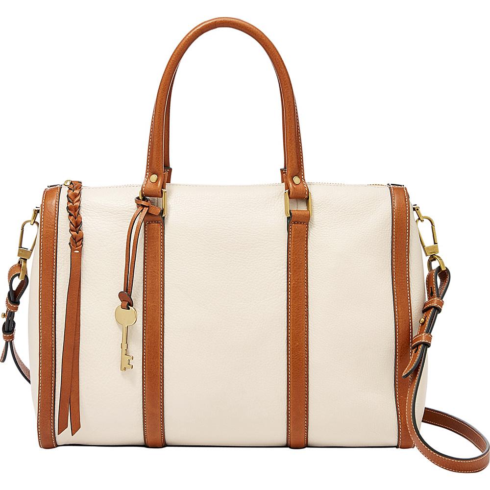 Fossil Kendall Large Satchel Vanilla - Fossil Leather Handbags - Handbags, Leather Handbags