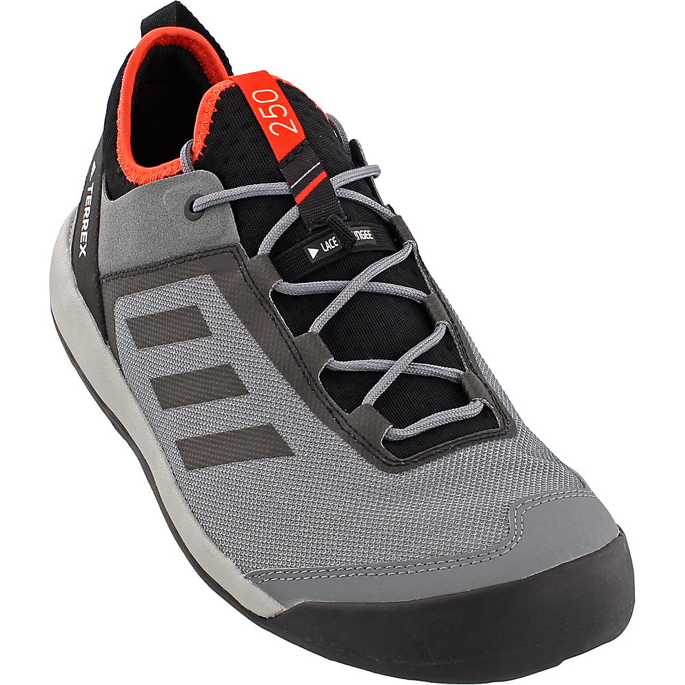 adidas outdoor Mens Terrex Swift Solo Shoe 7.5 - Vista Grey/Chalk White/Energy - adidas outdoor Mens Footwear - Apparel & Footwear, Men's Footwear