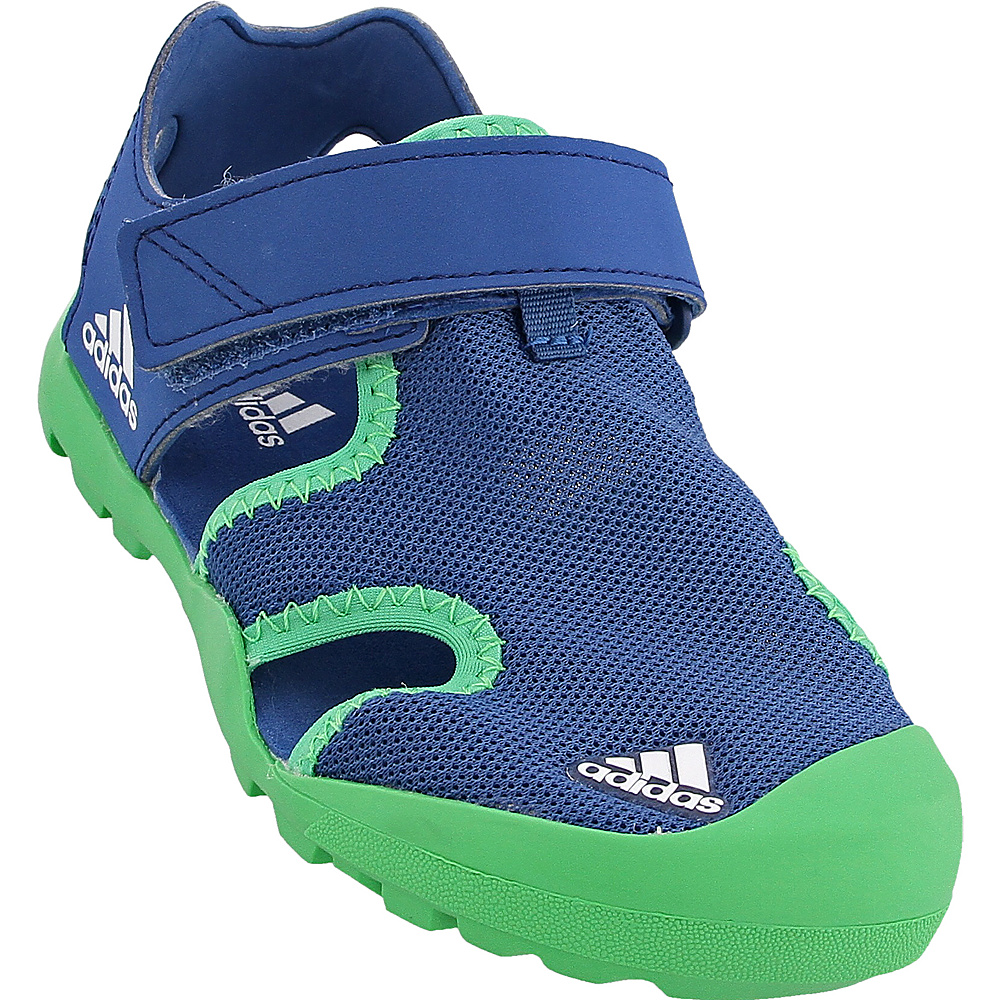 adidas outdoor Kids Captain Toey Shoe 10 (US Toddlers) - Core Blue/Energy Green/White - adidas outdoor Womens Footwear - Apparel & Footwear, Women's Footwear