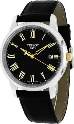 Tissot Watches Men's T-Classic Watch Black - Tissot Watches Watches