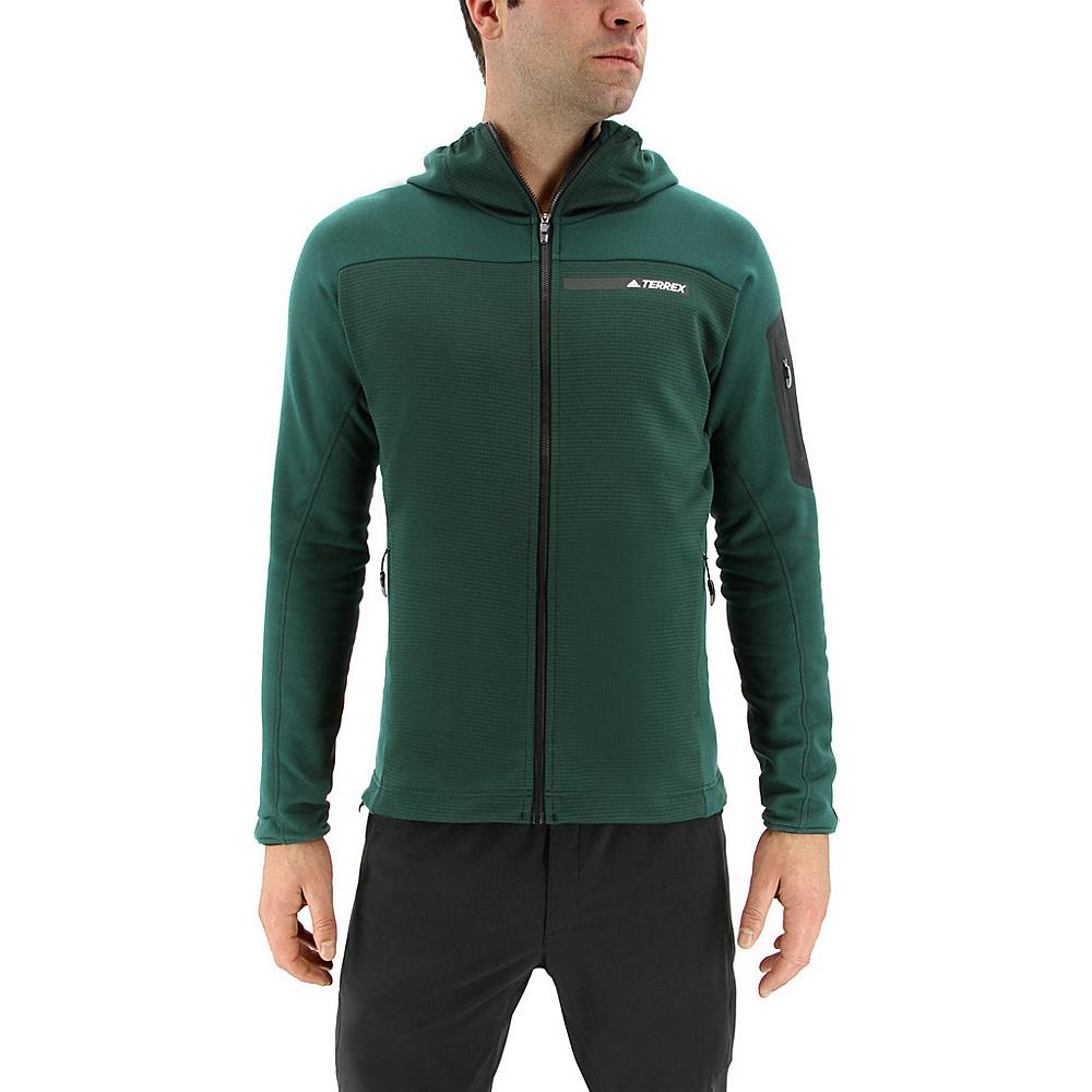 adidas outdoor Mens Terrex Stockhorn Hoodie XL - Green Night - adidas outdoor Mens Apparel - Apparel & Footwear, Men's Apparel