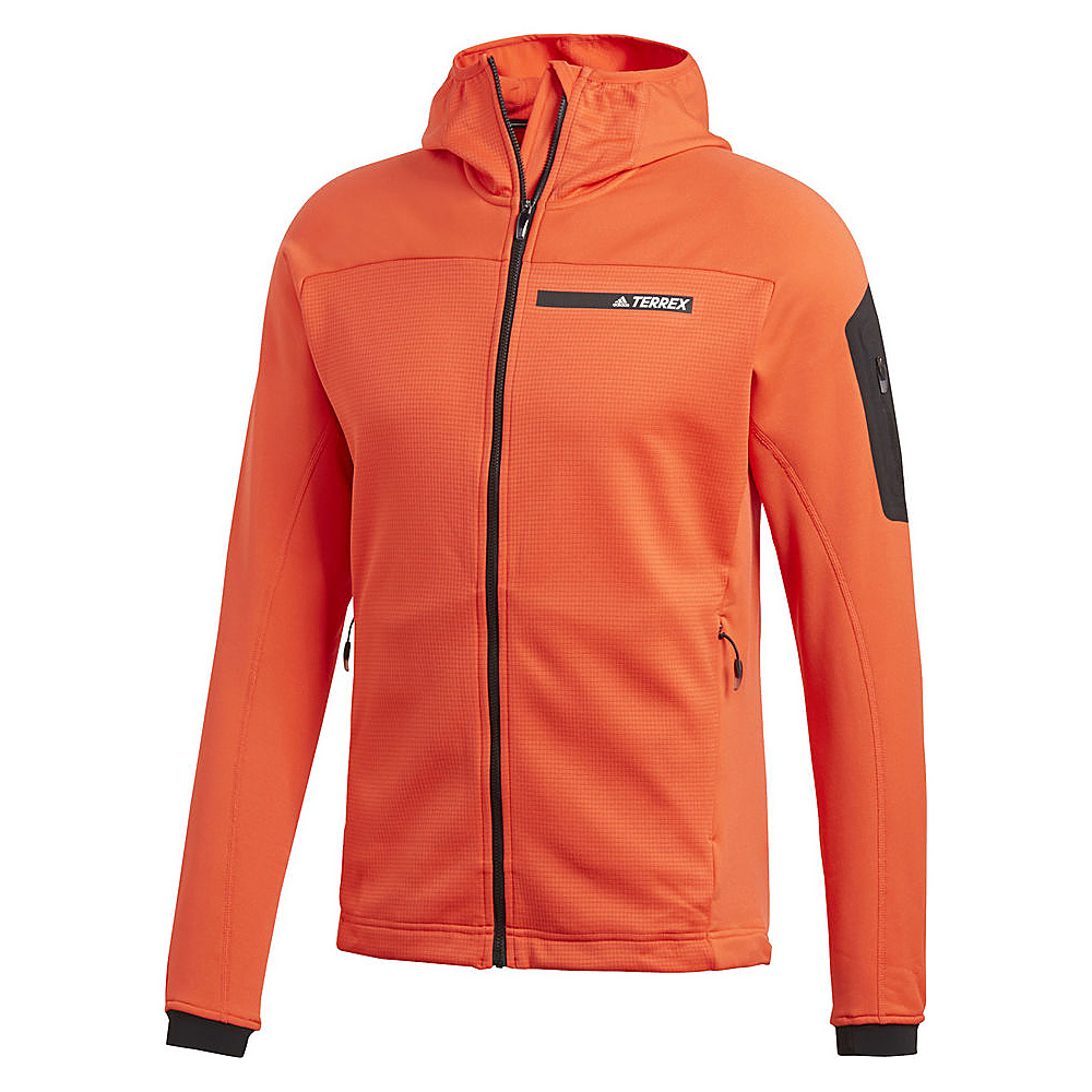 adidas outdoor Mens Terrex Stockhorn Hoodie S - Hi-Res Red - adidas outdoor Mens Apparel - Apparel & Footwear, Men's Apparel