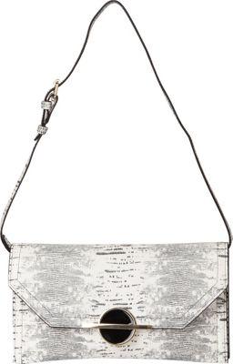 Sondra Roberts Lizard Clutch Black Multi - Sondra Roberts Manmade Handbags