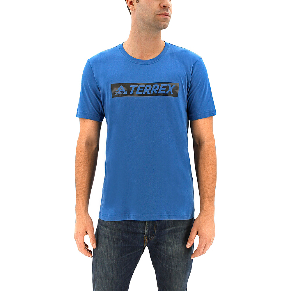 adidas outdoor Mens Logo Bar Tee 2XL - Core Blue - adidas outdoor Mens Apparel - Apparel & Footwear, Men's Apparel