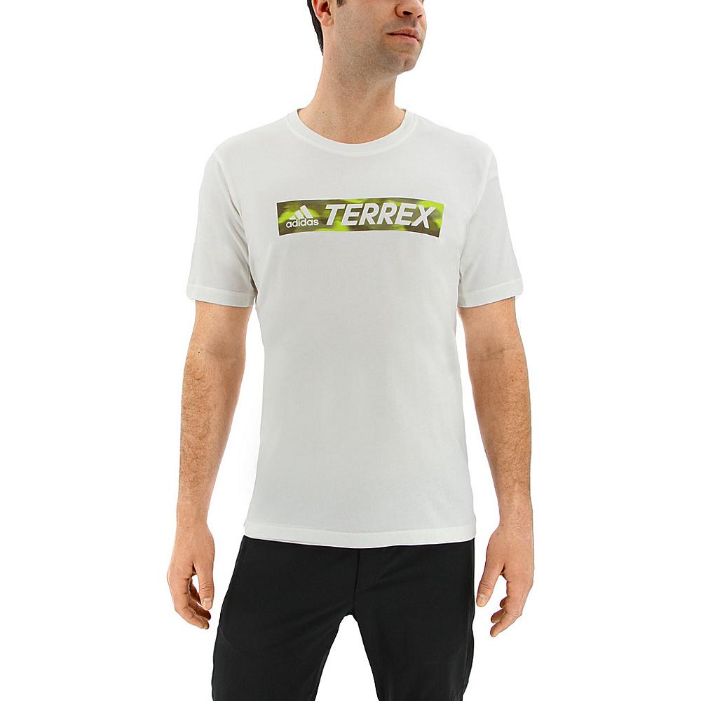 adidas outdoor Mens Logo Bar Tee S - White/ White - adidas outdoor Mens Apparel - Apparel & Footwear, Men's Apparel