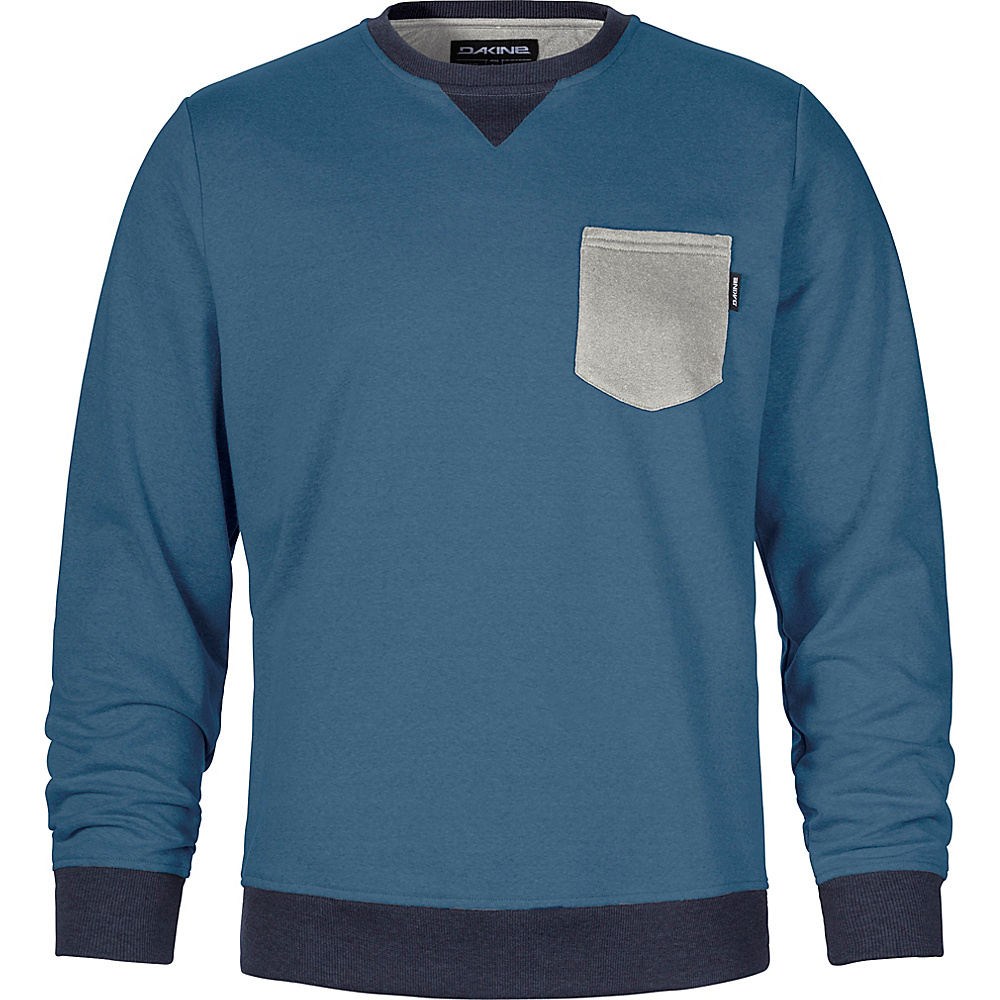DAKINE Mens Belmont Crew Fleece S - Ink Blue - DAKINE Mens Apparel - Apparel & Footwear, Men's Apparel