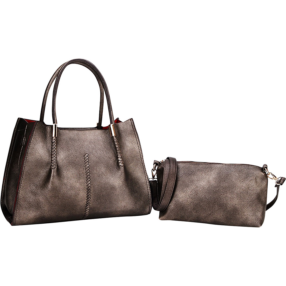 MKF Collection Gardner Satchel Pewter - MKF Collection Manmade Handbags - Handbags, Manmade Handbags