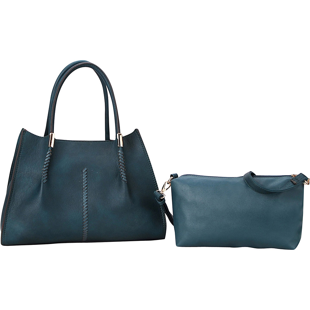 MKF Collection Gardner Satchel Teal Blue - MKF Collection Manmade Handbags - Handbags, Manmade Handbags