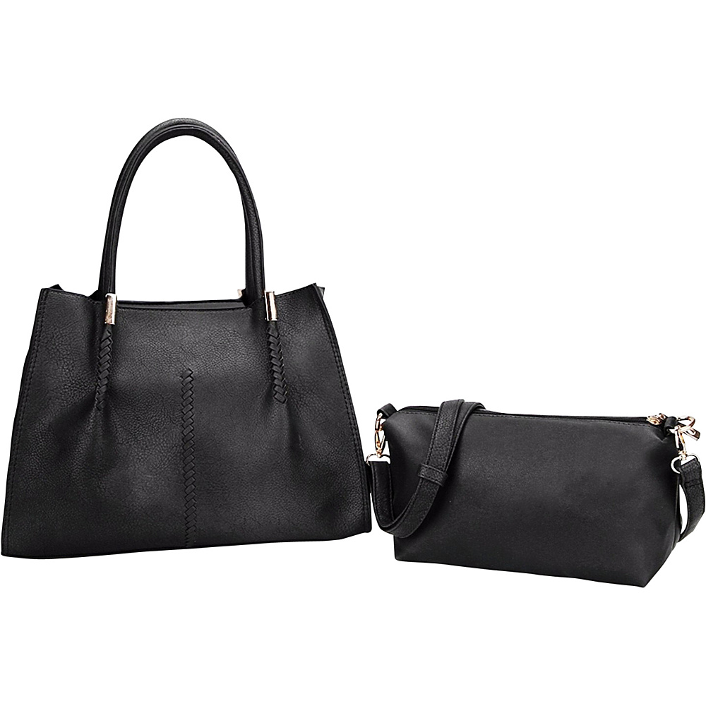 MKF Collection by Mia K. Farrow Gardner Satchel Black - MKF Collection by Mia K. Farrow Manmade Handbags - Handbags, Manmade Handbags