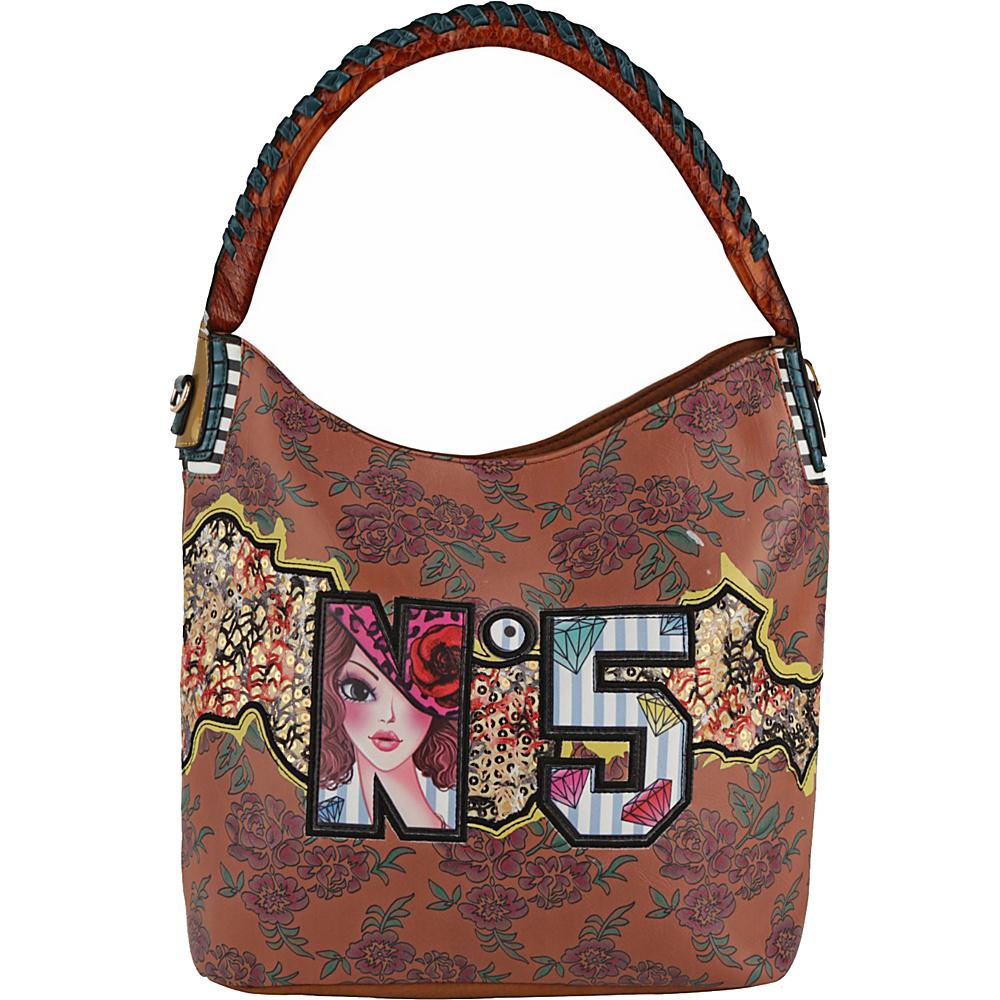 MKF Collection by Mia K. Farrow Niyellis Hobo Khaki - MKF Collection by Mia K. Farrow Manmade Handbags - Handbags, Manmade Handbags