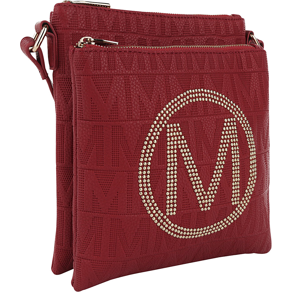 MKF Collection by Mia K. Farrow Genoa M Signature Crossbody Red - MKF Collection by Mia K. Farrow Leather Handbags - Handbags, Leather Handbags