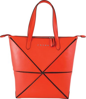 Cross Women's Origami Leather Collapsible Bag Real Red - Cross Leather Handbags