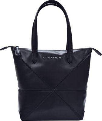 Cross Women's Origami Leather Collapsible Bag Black - Cross Leather Handbags