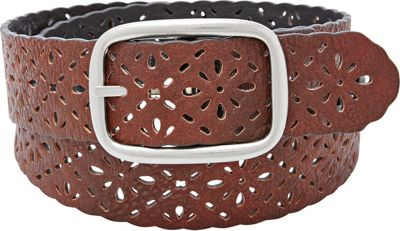 Relic Reversible Floral Perforated Belt L - Black/Brown - Relic Belts