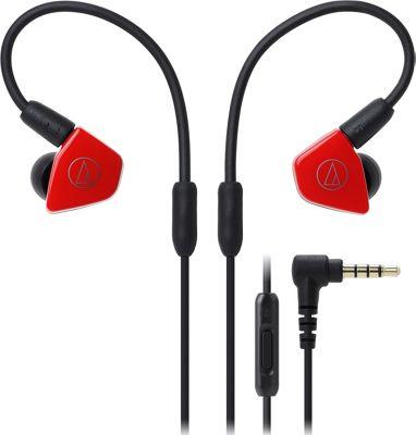 Audio Technica In-Ear Headphones with In-line Mic & Control Red - Audio Technica Headphones & Speakers