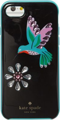 kate spade new york Jeweled Hummingbird iPhone 7 Case Black Multi - kate spade new york Electronic Cases