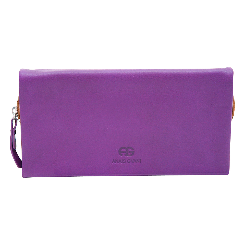Dasein Womens Bifold Wallet Purple/Brown - Dasein Womens Wallets - Women's SLG, Women's Wallets