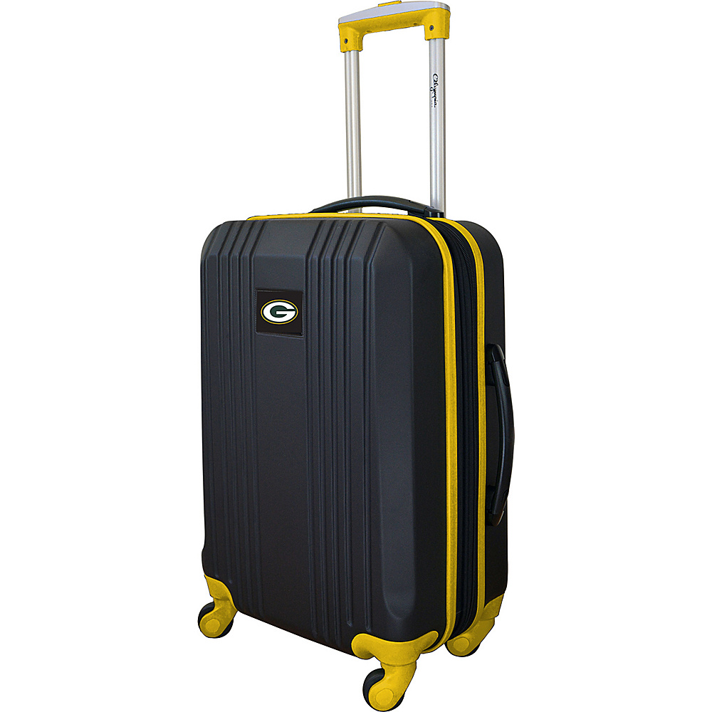 MOJO Denco 21 Carry-On Hardcase 2-Tone Spinner Green Bay Packers - MOJO Denco Hardside Luggage - Luggage, Hardside Luggage