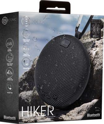 B iconic Hiker Water Resistant Bluetooth Speaker Black - B iconic Headphones & Speakers